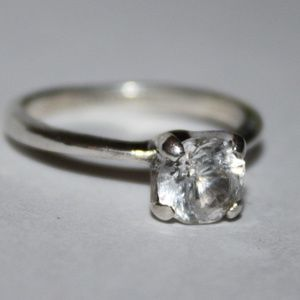 Jewelry - size 5 sterling silver CZ engagement ring